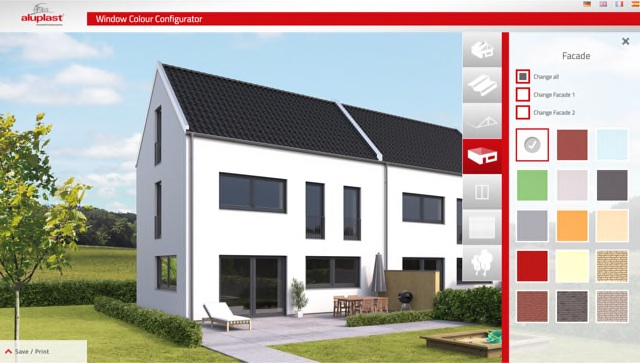 Aluplast launches retail window and door configurator for House configurator