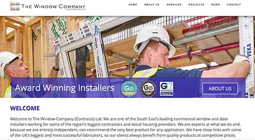 New website showcases the Window Company (Contracts)' expertise